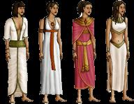 Les personnages d'Egyptis