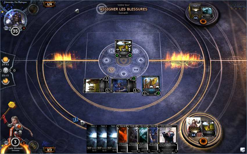 Les combats dans HEX Shards of Fate