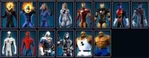 Les super-héros emblématiques de Marvel